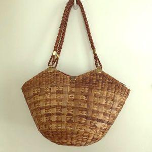Handbags - Vintage Delill Italian Wicker Tote Bag